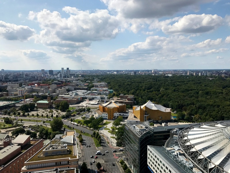 views of Berlin from Panoramapunkt