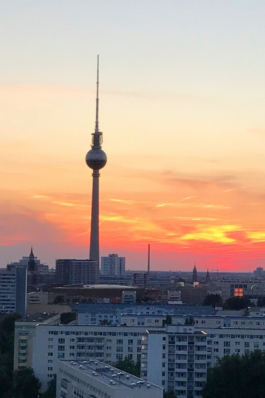 The Berlin TV Tower (shown at sunset) should be included on your Germany itinerary