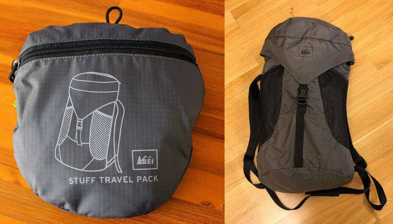 REI stuff bag - what to pack for Berlin