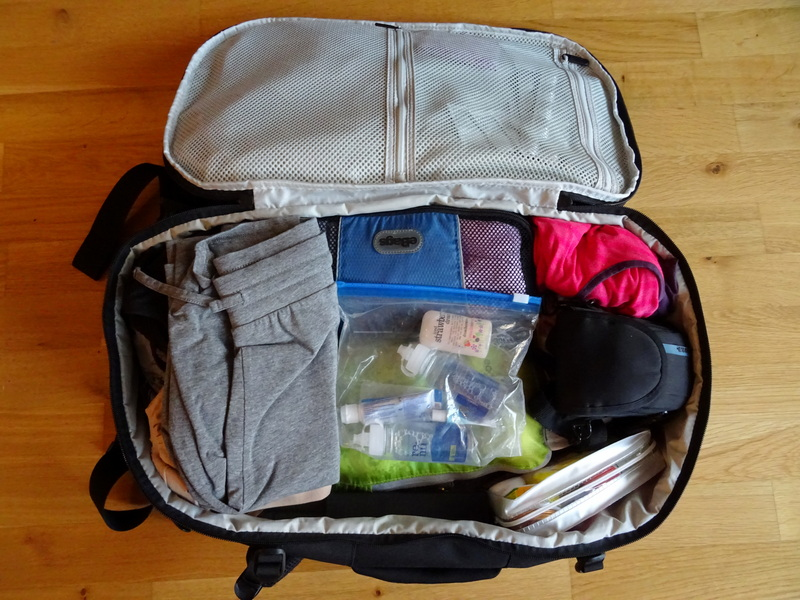 Tortuga 35L Setout women's backpack packed up - Berlin packing list