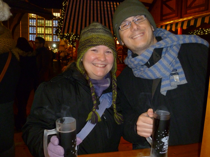 Ali and Andy enjoying Christmas markets - what to pack for Berlin in December