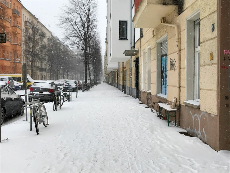 snowy road in Berlin - what to pack for Berlin in winter