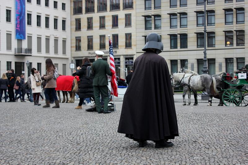what to wear in Berlin - person dressed as Darth Vader
