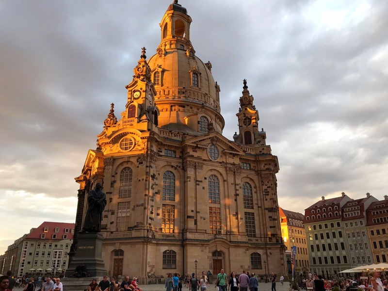 Dresden Frauenkirche and Martin Luther statue