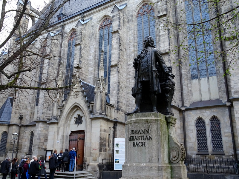 Leipzig Bach statue 1 week in Germany itinerary