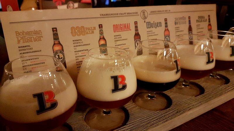 Lemke craft beer brewery Berlin Mitte flight