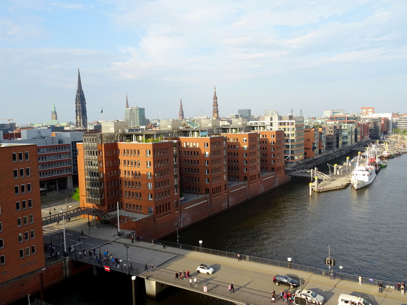 views of Hamburg on a day trip