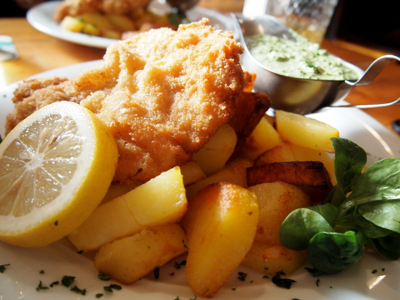 Schnitzel with potatoes - food to eat in Germany