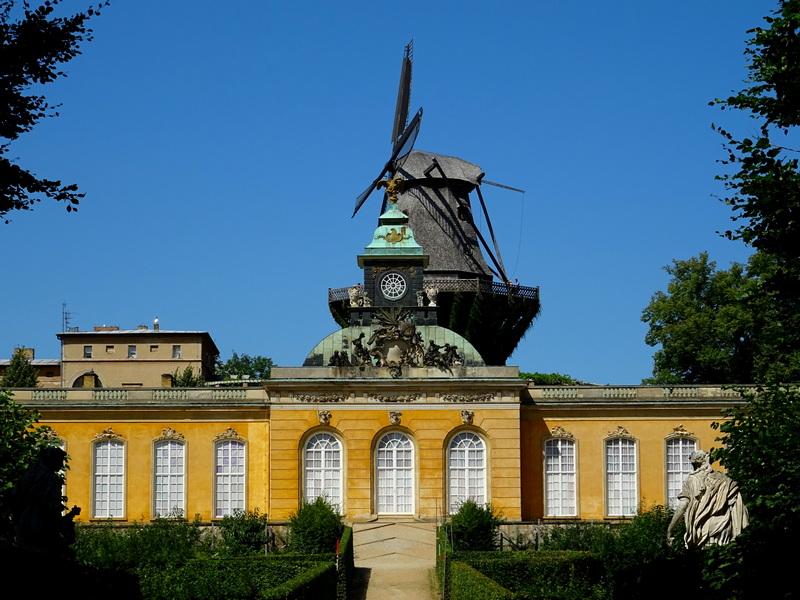 historic mill behind New Chambers of Sanssouci Palace Potsdam