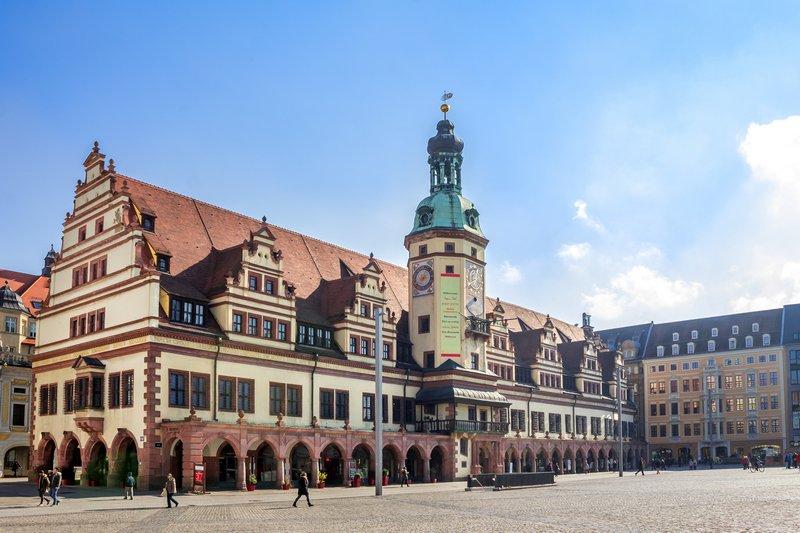 old city hall and Marktplatz Leipzig