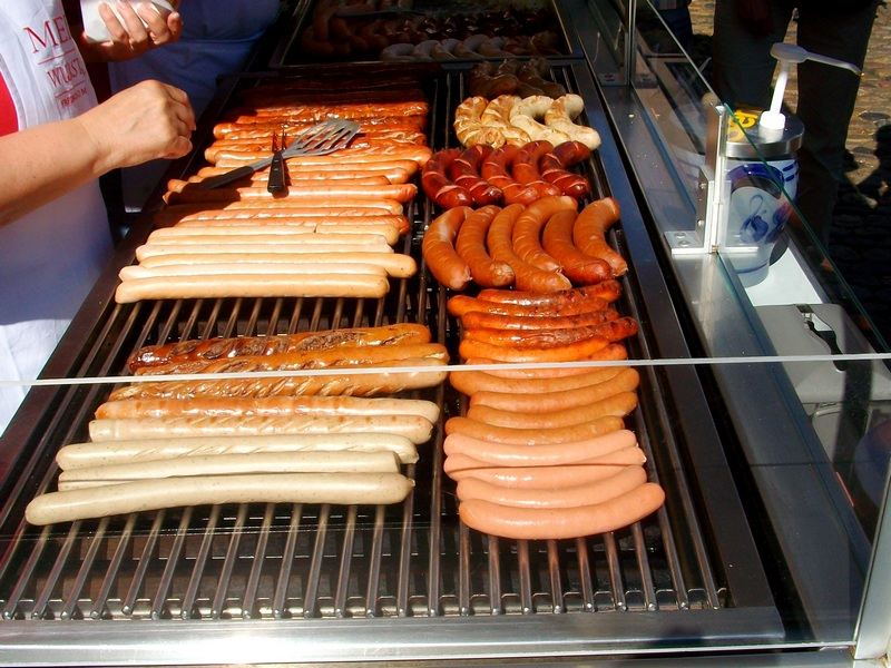sausages - food you should eat in Germany
