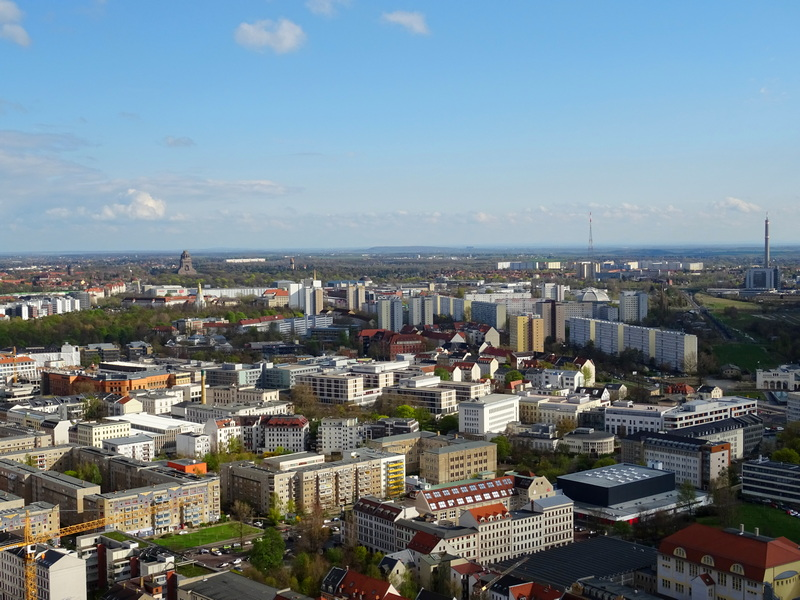 view of Leipzig from Panorama Tower