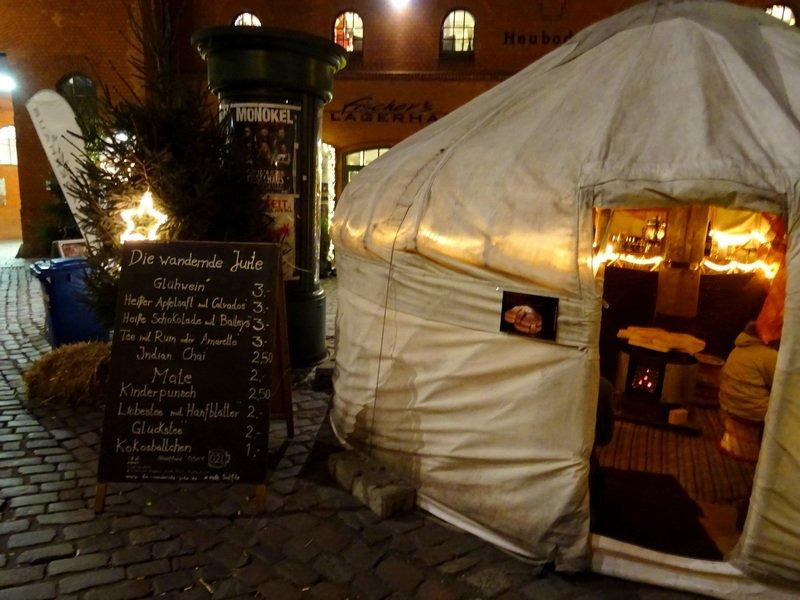 Berlin Christmas markets Lucia yurt