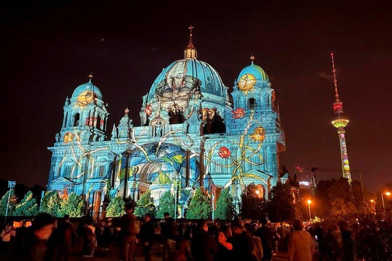 Berlin Festival of Lights - Berliner Dom and TV Tower