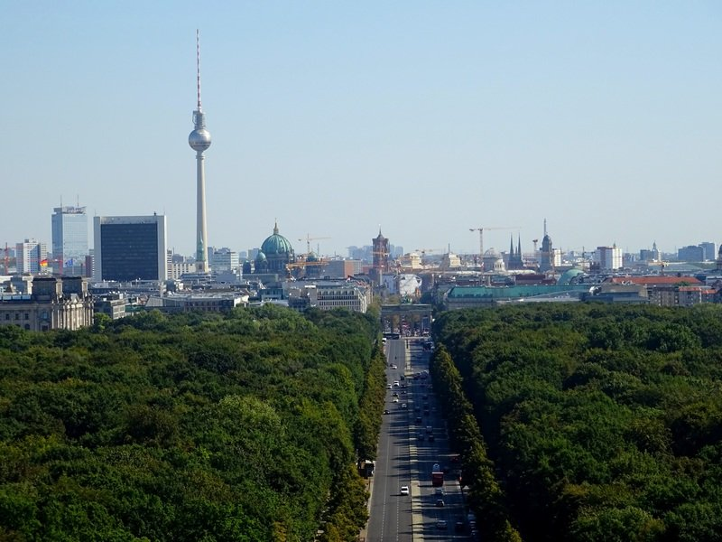 Berlin bucket list views from above Victory Column