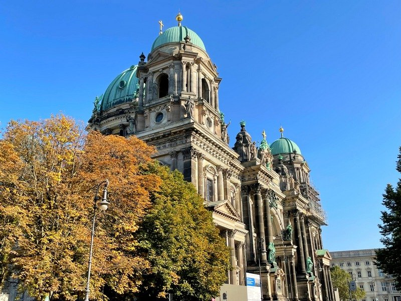Berlin in fall Museum Island Berliner Dom