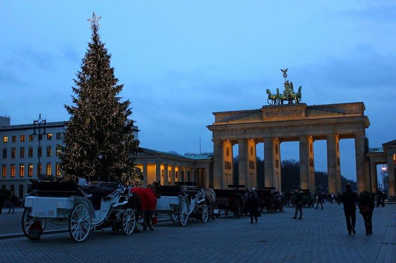 Brandenburger Tor Berlin during Christmas